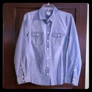 J. Crew Chambray Shirt, Size Small